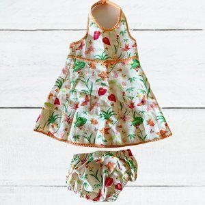 VTG Gymboree 12-18m haltered flower dress